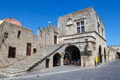 Die Allee der Ritter in der Stadt von Rhodos, Griechenland Lizenzfreie Stockfotografie