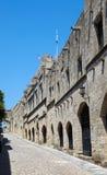 Die Allee der Ritter in der Stadt von Rhodos, Griechenland Stockfoto
