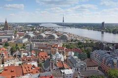Die allgemeine Ansicht von Riga Stockfotos