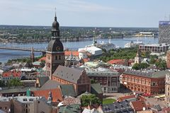 Die allgemeine Ansicht von Riga Lizenzfreies Stockfoto