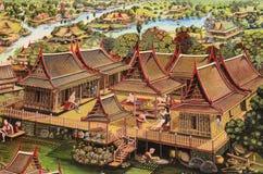 Die allgemeine thailändische Kunstmalerei Stockfotografie
