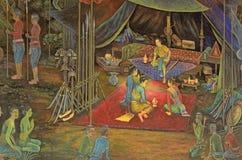 Die allgemeine thailändische Kunstmalerei Stockfotos