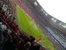 Die Allianz-Arena-Fußballstadionsrot Stockfoto