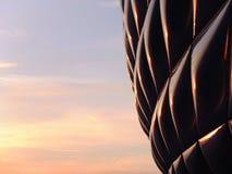 Die Allianz-Arena-Sonnenuntergang Lizenzfreie Stockfotos