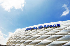 Die Allianz-Arena-Stadion Lizenzfreies Stockfoto