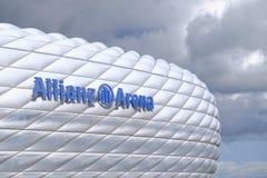 Die Allianz-Arenaabschluß oben Lizenzfreie Stockfotografie
