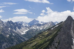 Die Alpen Lizenzfreie Stockfotos