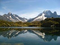 Die Alpen in der Tätigkeit Stockbild