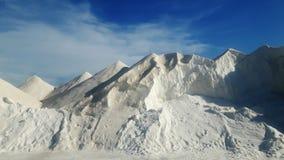 Die Alpen gemacht vom Salz lizenzfreies stockbild