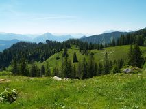 Die Alpen im Sommer Stockbilder