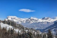 Die Alpen im Winter Stockbilder