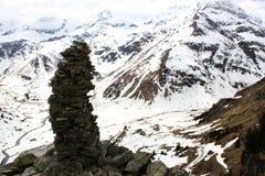 Die Alpen Stein-Skulpture Stockbild