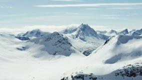 Die Alpen von West-Norwegen stock footage
