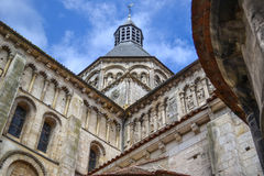 Die alte Abtei im Frankreich Stockbild