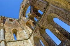 Die alte Abtei von San Galgano, Toskana Chiusdino, Siena, Italien Lizenzfreie Stockbilder