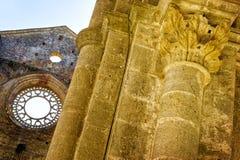 Die alte Abtei von San Galgano, Toskana Chiusdino, Siena, Italien Lizenzfreie Stockfotos