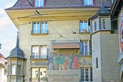 Die alte Apotheke in Bern Lizenzfreie Stockfotografie
