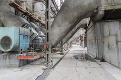 Die alte Ausrüstung in einem Kraftwerk Lizenzfreie Stockfotografie