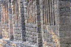 Die alte Backsteinmauer bleibt Lizenzfreie Stockfotografie