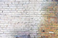 Die alte Backsteinmauer ist schmutzig Leerer Hintergrund von glatten Reihen von Steinen Stockbilder