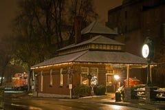 Die alte Bahnstation Lizenzfreies Stockbild