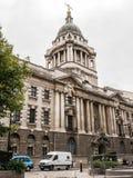 Die alte Bailey-Fassade und die Haube, London Lizenzfreies Stockfoto