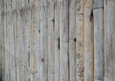 Die alte Bambuswand Lizenzfreie Stockfotos