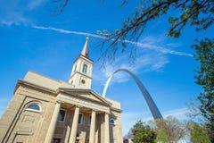 Die alte Basilika-Kathedrale St. Louis Stockfoto