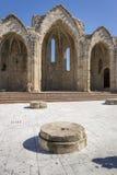 Die alte Basilika Panagia zu Bourgou, Rhodos, Griechenland Lizenzfreies Stockbild