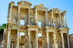 Die alte Bibliothek von Celsus in Ephesus, die Türkei Stockfoto