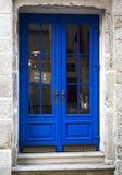 Die alte blaue Holztür Lizenzfreies Stockbild
