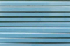 Die alte blaue Metallzaunbeschaffenheit Lizenzfreie Stockbilder