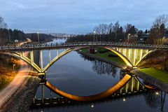 Die alte Bogenbrücke Stockbilder