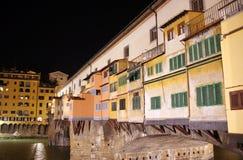 Die alte Brücke auf Fluss Arno, Florenz, Toskana Lizenzfreie Stockfotografie