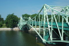 Die alte Brücke in Liepaja, Lettland stockfoto