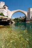 Die alte Brücke in Mostar stockfoto
