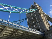 Die alte Brücke und die Boote Lizenzfreies Stockbild