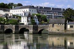 Die alte Brücke von Auray in Frankreich Lizenzfreies Stockbild