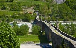 Die alte Brücke von Bobbio Lizenzfreies Stockfoto