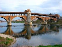 Die alte Brücke von Pavia Lizenzfreies Stockbild