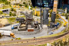 Die alte Fabrik im Großartig-Spott-Museum ist die Stadt von St Petersburg Lizenzfreies Stockfoto