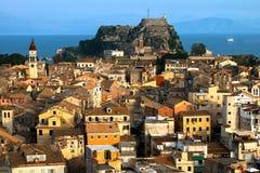 Die alte Festung von Korfu in Korfu, Griechenland lizenzfreie stockfotos