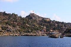 Die alte Festung von Simena, die Türkei Stockfoto