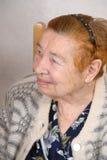 Die alte Frau. Lizenzfreie Stockfotografie
