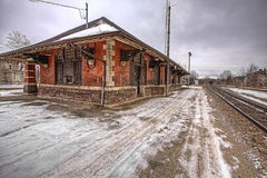 Die alte Galt-Bahnstation, Ontario, Kanada Lizenzfreie Stockbilder