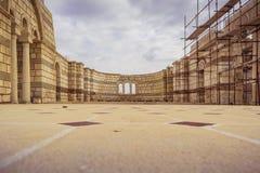 Die alte große Basilika in Pliska Das größte in mittelalterlichem Südost-Europa lizenzfreie stockfotos