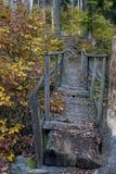 Die alte hölzerne Brücke Stockbild