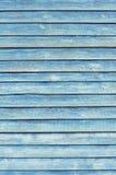 Die alte hölzerne gemalte Wand verblaßte blaue Farbe Lizenzfreies Stockbild