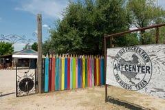 Die alte Huhn-Bauernhof-Kunst-Mitte, San Angelo, TX, US Stockfotografie