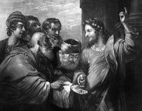 Die alte Illustration des Tribut-Geldes lizenzfreie abbildung
